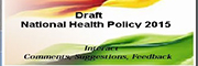 Draft - National Health Policy 2015